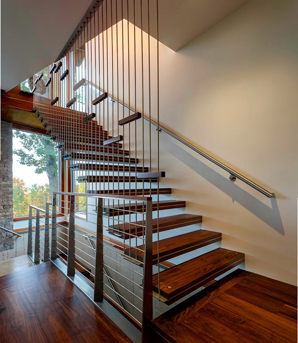 Suspended Style 32 Floating Staircase Ideas For The: M-22 House: An Imposing Modern Residence In USA