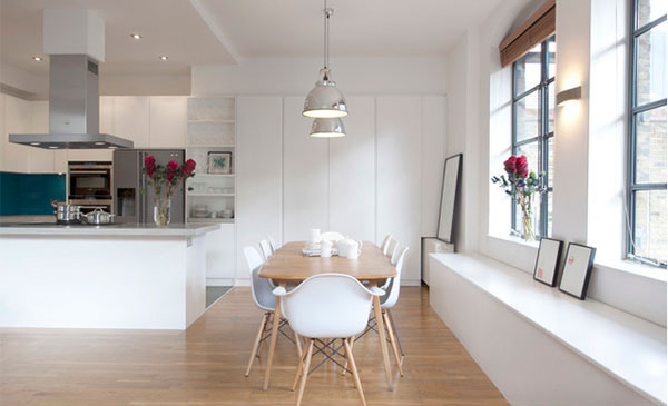 Kitchen and Dining Area Scandinavian Idea