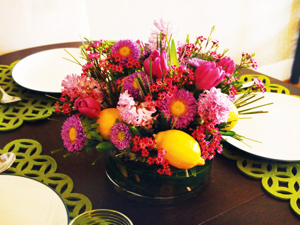 floral easter table