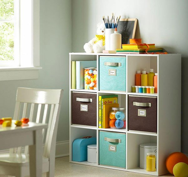 White Stackable 9-Cube Organizer