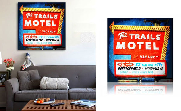The Trails Motel Wall idea