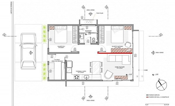 A small simple and sophisticated rectangular box house for Rectangular house plans modern