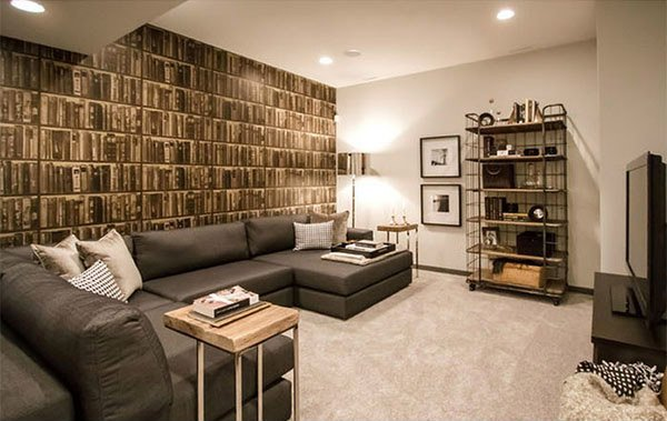 Modern And Contemporary Living Room Basement Designs Home