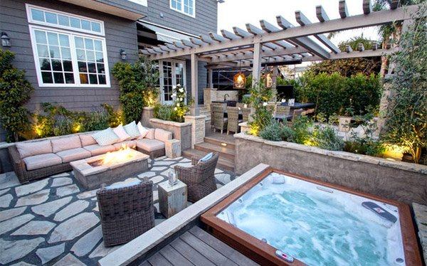 square hot tubs