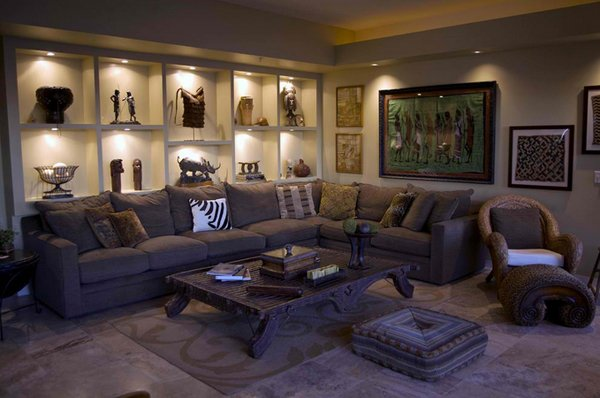 Amazing African Living Room Decor
