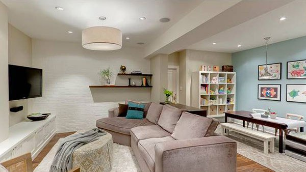 Simple Basement Living Room Ideas Creative