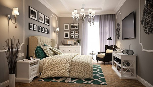 15 modern vintage glamorous bedrooms home design lover for Glamorous bedroom pictures