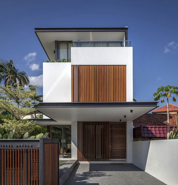 Modern Beautiful Wooden House Designs Singapore
