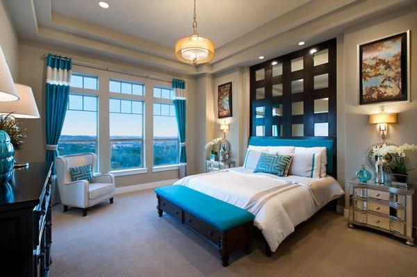 15 Beautiful Brown And Teal Bedrooms Home Design Lover