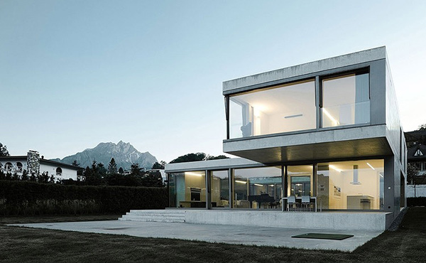 Villa m a modern minimalist house in switzerland home for Modern minimalist villa