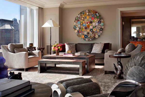 20 Unique Living Room Wall Decors | Home Design Lover