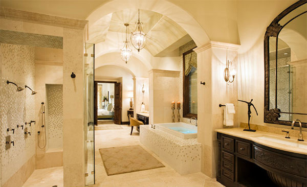 Lovely Rough Hollow Master Bath