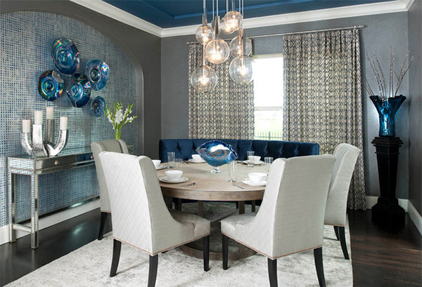 Elegant Tableware For Dining Rooms With Style: 15 Dining Room Walls Decorated With Plates