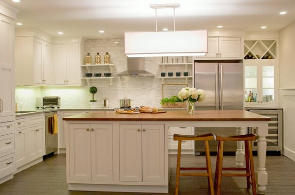 15 beautiful kitchen island with table attached home design lover - Ilots de cuisine ...