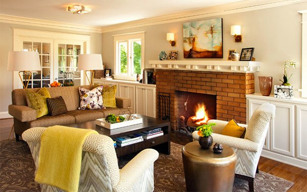 Elegant Craftsman Living Room Decors