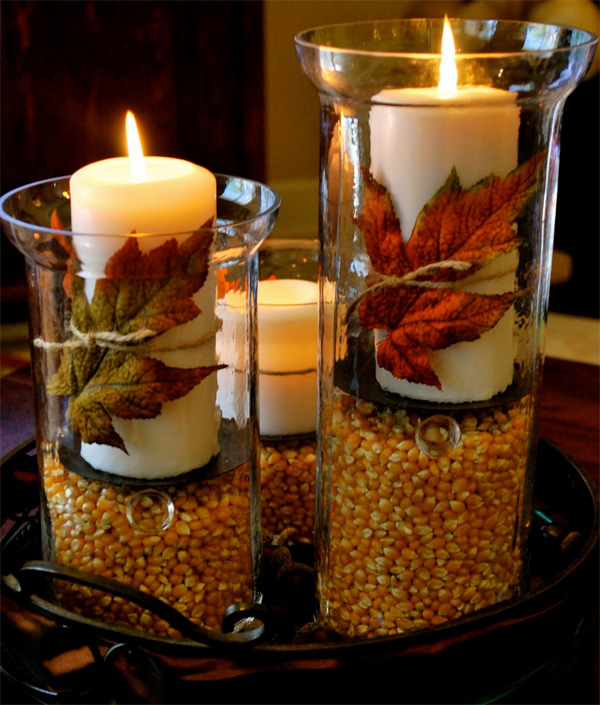 cool autumn table decoration deco
