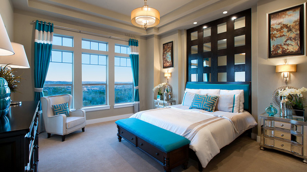 15 Beautiful Brown and Teal Bedrooms | Home Design Lover