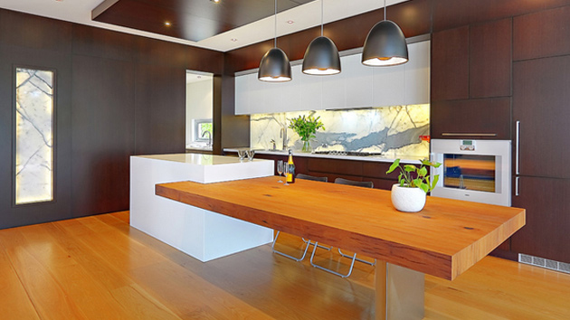 15 Beautiful Kitchen Island with Table Attached Home  : island table from homedesignlover.com size 630 x 354 jpeg 93kB