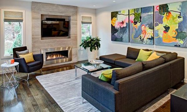 modern family living room 15 adorable contemporary family rooms home design lover 13905