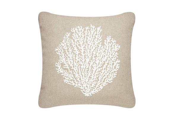 Sea Fan Outdoor Eco Pillow, Shell White/Papyru