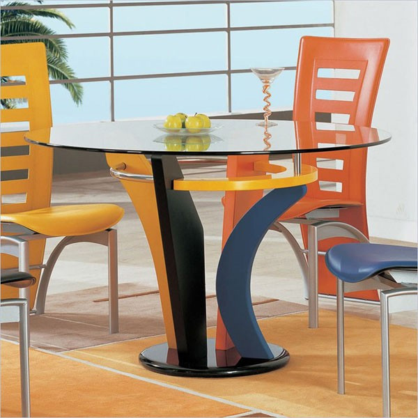neville casual multi-color dining table