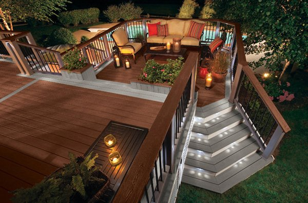 15 must see deck lighting ideas home design lover deck lights mozeypictures Image collections