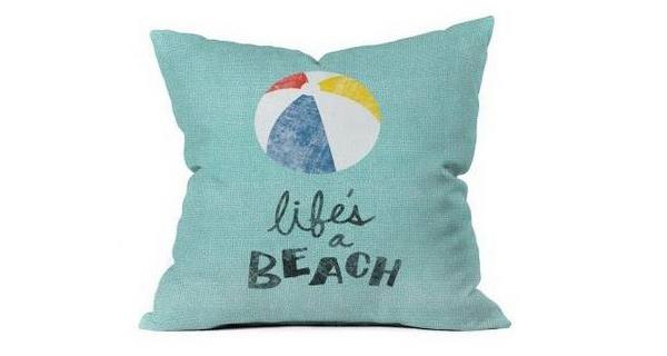 Nick Nelson Lifes A Beach Outdoor Throw Pillow