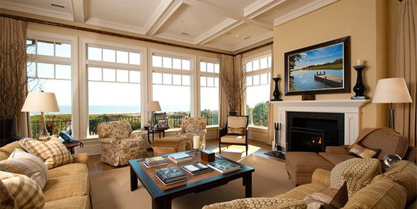 white coffered ceiling