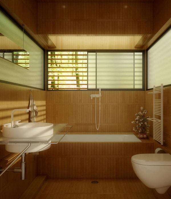 Bathroom in the Woods