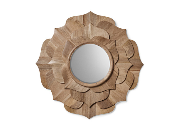 Contemporary Lotus Petal Mirror