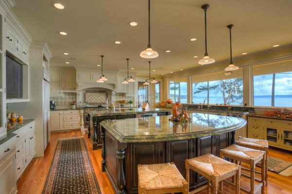 15 big kitchen design ideas home design lover for Big island kitchen design