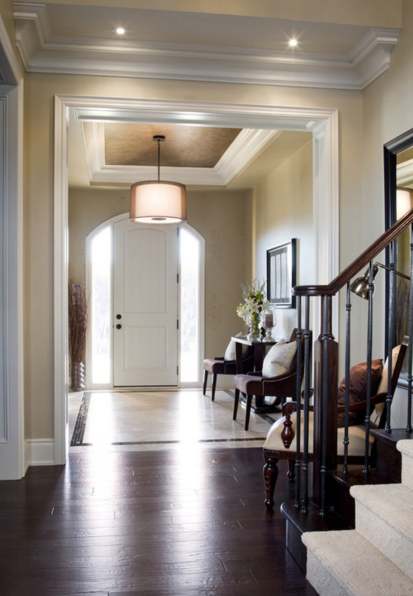 white light foyer lighting