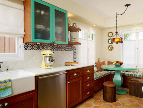 15 charming corner kitchen tables home design lover for 1920s kitchen remodel