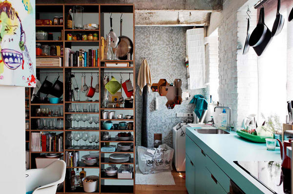 floor-to-ceiling shelving