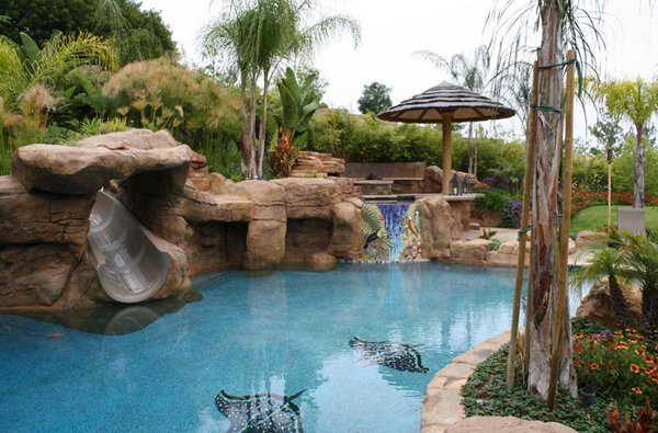 15 Gorgeous Swimming Pool Slides | Home Design Lover