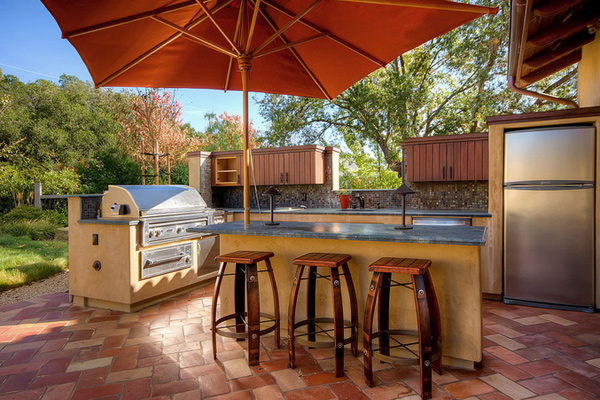 15 awesome contemporary outdoor kitchen designs home for Outdoor kitchen design tool