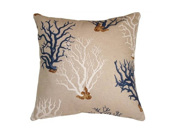 Pillow Decor - Coral 21x21 Decorative Pillow