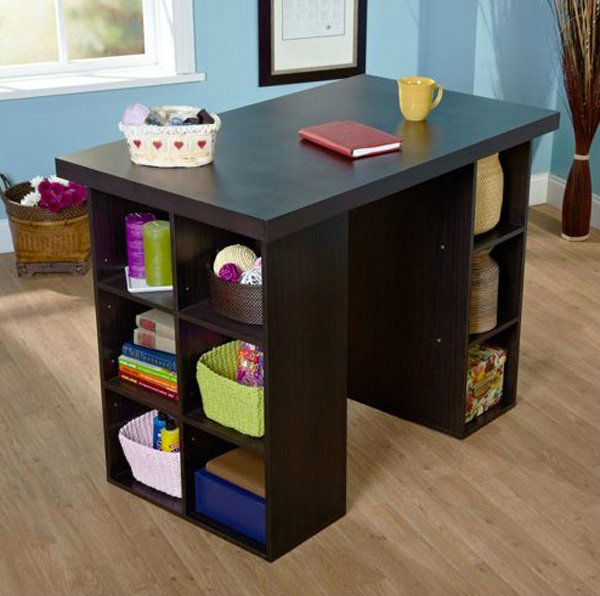 crafting desk with storage 16 crafting table with storage to indulge in creativity 4108