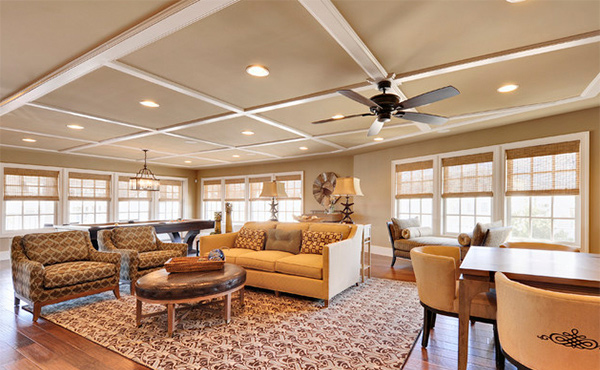 15 Beautiful Traditional Coffered Ceiling Living Rooms Home Design Lover