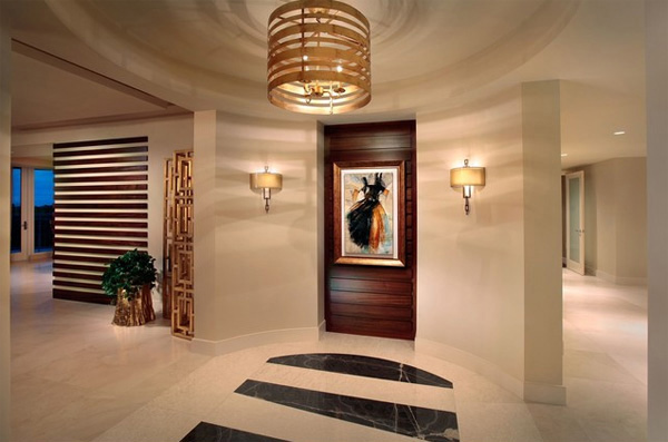 Modern Office Foyer : Ways to light your home s foyer design lover