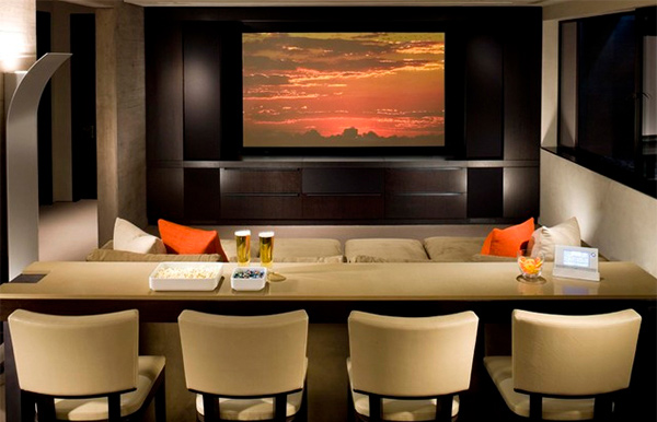 15 Contemporary Media Room Designs Home Design Lover