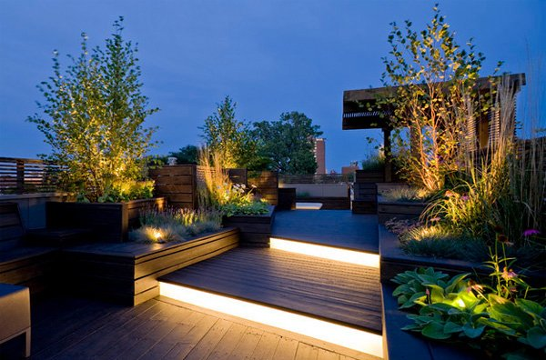 strip lights - Deck Lighting Ideas