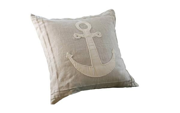 Natural Anchor Pillow