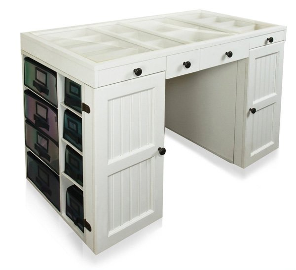 craft desk with storage 16 crafting table with storage to indulge in creativity 3764