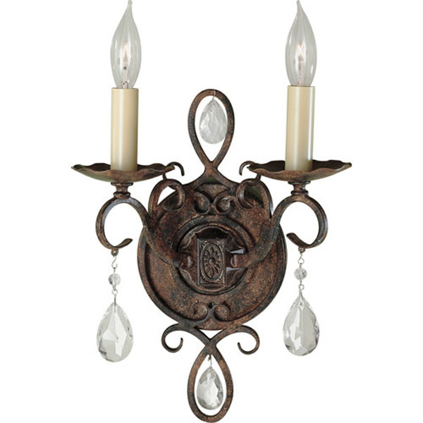 chateau two light wall sconce