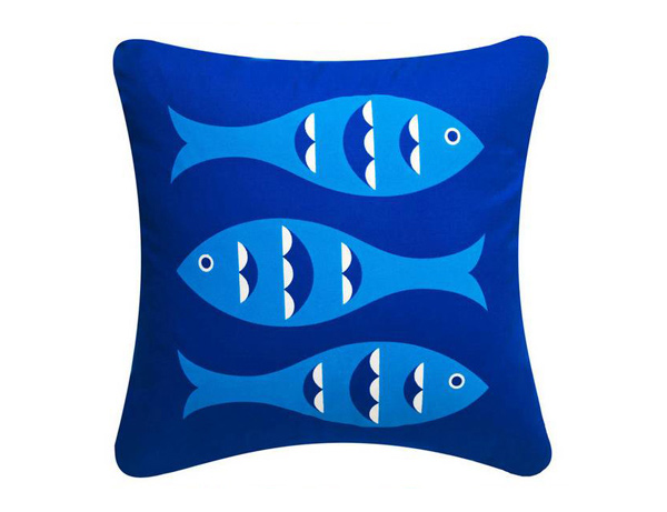 Blue Fish Eco Pillow