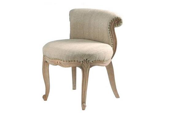 French Upholstered Slipper Chair