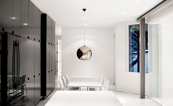 silver pendant light