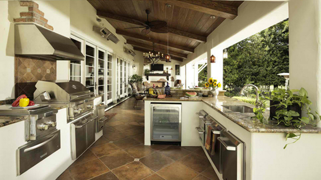 15 Awesome Contemporary Outdoor Kitchen Designs Home Design Lover