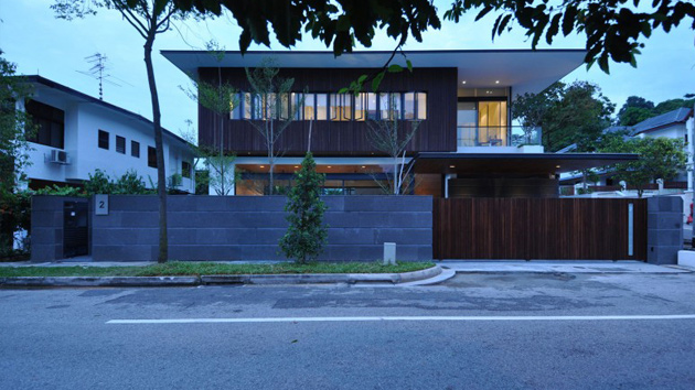 Sunset terrace an impeccable modern bungalow in singapore home design lover